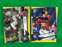Lot of (2) 2019 Topps Big League Gold Border Parallels #397 JUAN SOTO Nationals