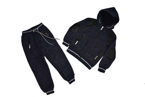 Boys  Blue  Two Pieces Winter Jog Suits Tracksuit 4 to 14 years