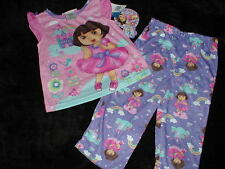 NWT Nickelodeon  DORA THE EXPLORER Purple short sleeved PJ/Pajamas Pants 2T NEW