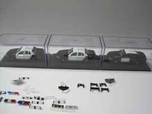 1/43 scale Police cars (  lot of 7 car ) MOTOR MAX  /  WELLY