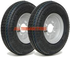 """4.80/4.00-8 6 Ply Road Legal 8 Inch Trailer Wheels & Tyres 4"""" PCD 400x8 4.00-8"""