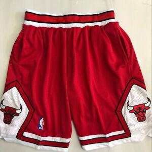 Hot Chicago Bulls Retro Red Men Basketball Shorts Size:S-XXL