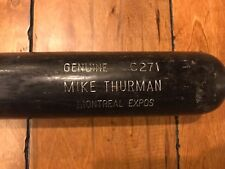 1998 Mike Thurman Montreal Expos Louisville Slugger GAME USED BAT LOA