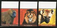 GAMBIA 2017 WILD ANIMALS HIGH VALUE DEFINITIVE SET OF THREE MINT NEVER HINGED