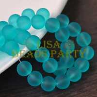 New! 30pcs 8mm Jelly Like Round Loose Spacer Glass Beads Findings Lake Blue