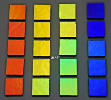 "20-1/2""x1/2 Black Mixed Color Premium Coatings By Sandberg Dichroic Glass 90 Coe"