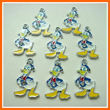 Wholesale 8 pcs Donald Duck Jewelry Making Metal Figure Charms Pendants FREE S&H