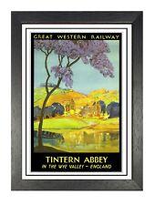 Tintern Abbey Old Railways Advert Vintage Print Retro Picture Oldschool Poster