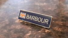 enamel wax jacket Barbour union jack pin badge international