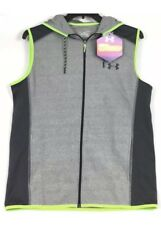 $70 Men's Under Armour ColdGear Hooded Lined Zippered Vest Size LARGE 1259823