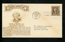 US FDC #863 Crosby M-37I 1940 Hannibal MO Samuel Clemens Famous Americans Author