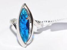VERO ARGENTO 925 anello con Zirconia Pietre, rodiato con 5µ Rodio - Novità