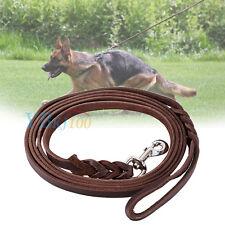 Pets Dog Training Leash Durable Leather Long Braided Walking Dog Lead Leash