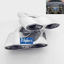 Pair quad exhaust tips for Mercedes W221 S350 S500 S550 S600 S63 S65 AMG