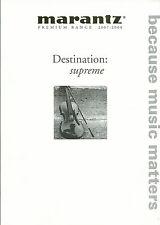 Marantz premium Range 2007-2008/catálogo folleto/ma-9s2 sc-7s2 pm-11s1, etc.