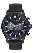 ES-Mathias night Leder Schwarz Esprit Herrenchronograph ES108251002 NEU OVP
