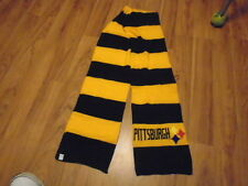 PITTSBURGH STEELERS PLAYOFF BLACK & GOLD EMBROIDERED  LOGO STRIPE SCARF