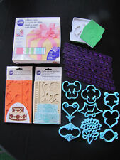 CAKE DECORATING FONDANT TOOLS*MOLDS*RIBBON CUTTER*PATTERN PRESS*ROSE LEAVES+++