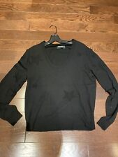 NWOT Women's Zadig & Voltaire Black Sweater With Stars, Size M