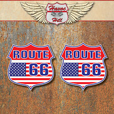 ROUTE 66 American USA Stickers car motorbike van Hot Rat Rod Guitar Laptop decal