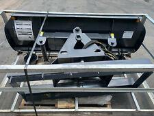 2021 New 72 Snow Dirt Plow 4 Way Skidsteer Hydraulic Dozer Blade Bobcat Cat