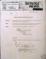 Yamaha Service Notes Bulletin to Repair WX7 Key Switch Contact, Protect Power IC