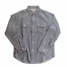 SUGAR CANE Hickory Stripe L/S Work Shirt