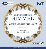 LIEBE IST NUR EIN WORT - SIMMEL,JOHANNES MARIO  2 MP3 CD NEW