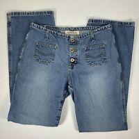 Hydraulic Womens Bootcut Jeans Size 9/10 Blue Denim Straight Exposed Button Fly