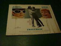 vintage Original 1/2 sheet movie poster: 1967 TWO FOR THE ROAD audrey hepburn