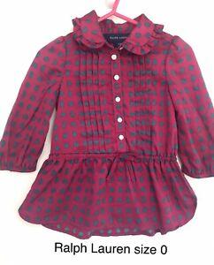 Size 0 12 Months Ralph lauren Tunic Dress Paisley Print. Excellent Condition
