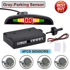 Gray-Reversing Parking Radar Sensor Car Vehicle 4 Sensors Audio Buzzer Alarm