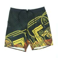 Reebok Crossfit Men 35 Board Shorts Rope Unknown Black Work Out Lift Gym Scale