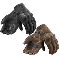 NEW Revit Palmer Motorcycle Gloves Full Leather Retro Urban Moto Road Gloves