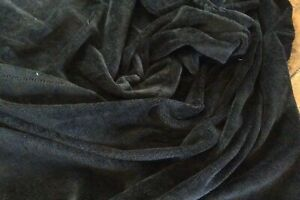 BLACK   - Luxury Bamboo Towelling by Truly Sumptuous