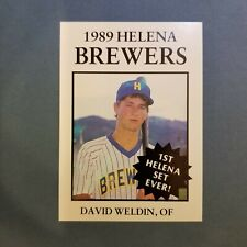 1989 Sports Pro HELENA Brewers #21 DAVID WELDIN Bakersfield CALIFORNIA