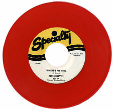 "JESSE BELVIN With Bumps Blackwell Band  ""WHERE'S MY GIRL""   RED VINYL    LISTEN!"