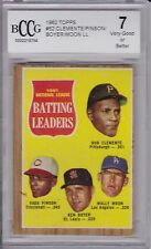 Clemente/Boyer, 1962 Topps, Batting Leaders Beckett 7
