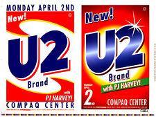 U2 Poster Pj Harvey 2001 Original Uncut Sheet Uncle Charlie Art Signed