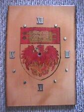 University of Chicago Coat of Arms Wooden Clock Face