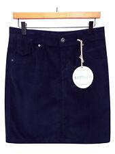 Neues AngebotM&S Indigo Navy Blue Cotton Corduroy A-Line Mini Skirt Size 8 & 22 RRP £25