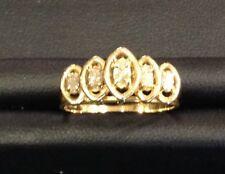 14k Yellow Gold Diamond Marquise Shape Ring Size 7