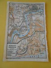 Plan de Schaff-Hausen Schweiz 1920