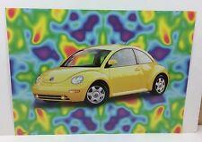 Groovy Yellow Volkswagen Beetle VW Bug New Old Stock 1998 Tangerine Press Poster
