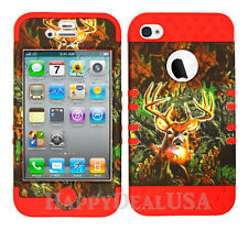 KoolKase Hybrid Silicone Cover Case for Apple iPhone 4 4S - Camo Mossy Deer