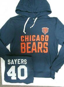 GALE SAYERS CHICAGO BEARS NFL MENS Hoodie Hoody Jersey SWEATSHIRT BLUE New