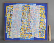 Large 1970s Authentic Large FREDERIC M FAILLACE Abstract Op-Art Acrylic Painting