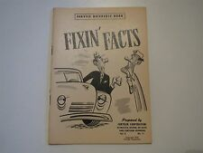 1950 DODGE CHRYSLER PLYMOUTH DESOTO FIXIN FACTS SERVICE REFERENCE MANUAL V3 No11
