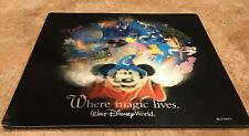 Vintage Walt Disney World Where Magic Lives 3D Plus Motion Souvenir Mouse Pad