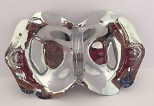 Continental Chrome #3054 Nut Candy Two Sided Dish With Handle